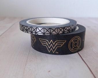 Justice League Washi Tape Set 2pc Embellishments & Paper Craft Supplies