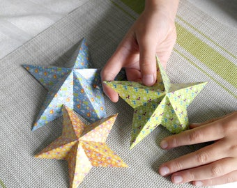diy kit Stars christmas decoration for room christmas star Handmade decoration paper Christmas gift for kids decorations christmas tree
