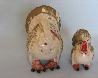 50's Vintage Turkey Salt and Pepper Shakers Pefect for Fall Season, Thanksgiving, Turkey Lovers And Kitchenware