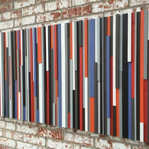 Wood Wall Art - Reclaimed Wood Art Queen Headboard - Wood Sculpture
