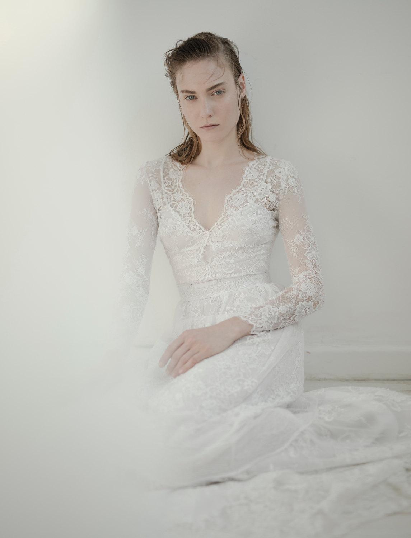 Lange Ärmel Brautkleid Brautkleid romantische Brautkleid