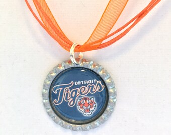 Detroit TIGERS Baseball Handcrafted Necklace