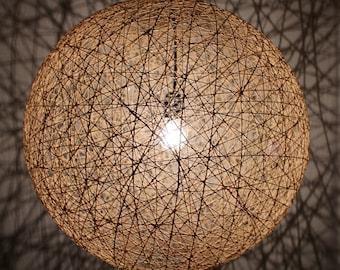 April, Modern hanging Sphere rope Pendant Lamp