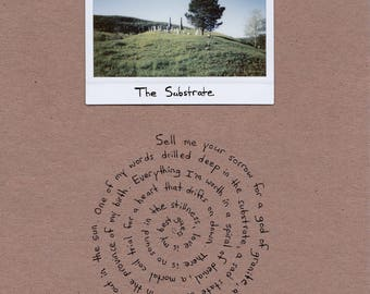 The Substrate / instant film and poetry / 8.5 x 11 inches