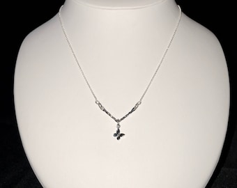 Delicate Sterling Silver Necklace with a Butterfly Charm