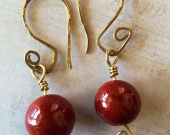 Cermic Dangle Earrings