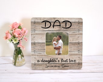 Fathers Day Gift from Daughter Photo Frame Wood Personalized Gift for Dad Picture Frame 4 x 6 Wall Decor Daddy and Me