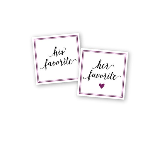 Square custom wedding stickers favor bags personalized