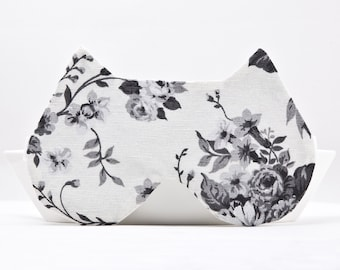 Floral Sleep Mask, White Bridesmaid Gift, Mom Gifts for Christmas, Cat Lover Gift, Wedding Night Lingerie, Bridesmaid Party, Blindfold