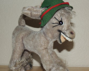 ANKER Germany Laughing Mohair Donkey 1960s