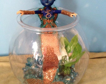 OOAK Mermaid and her Bowl