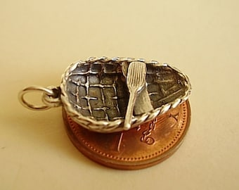 Sterling Silver Welsh Coracle Boat Charm
