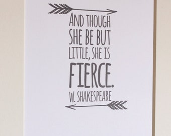 DIY 8x10 Printable: She is fierce.