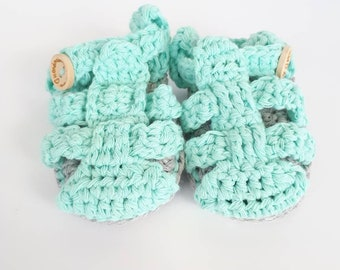 Baby sandals, baby shoes, crochet shoes, cotton booties, baby booties, crochet booties, spring booties, summer booties