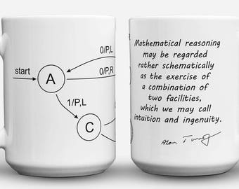 Turing Machine science art mug