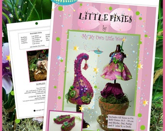 PDFVersion -  Little Pixies Pattern for BJD Tinies 10.5 - 30cm and Similar Size Dolls