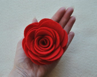 4 Piece Die Cut Polyester Felt DIY 3D Roses, EXTRA Large size