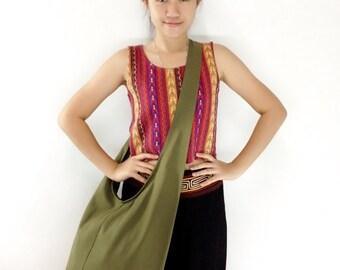 Handbags Canvas Bag Shoulder bag Sling bag Hobo bag Boho bag Messenger bag Tote bag Crossbody bag Purse  Olive