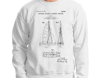 Captain Gift, Sailing Sweatshirt, Sailor Sweatshirt, Sail Boat Sweatshirt, Sailing Gifts for Grandpa, Daddy Gift, Sailing Mom, Vintage Boat