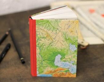"Travel Journal ""Journey"", Hand Bound Old Map Notebook"