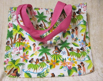 Hawaiian Hula Girl Tote by Summer Living with Wallet