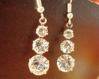 Earrings dangling Crystal rhinestone