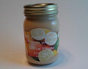 Citrus Fruit Soy Candle