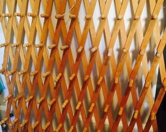 Vintage Wood Large Accordian Rack