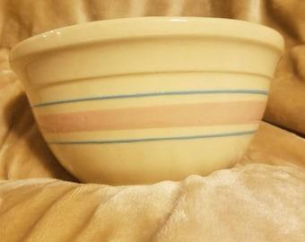 McCoy Pottery 1970s Pink/Blue Nesting Bowl #8