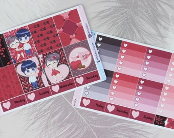 W009 - Chibi Love Weekly Kit Stickers