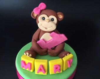 Monkey cake topper Etsy