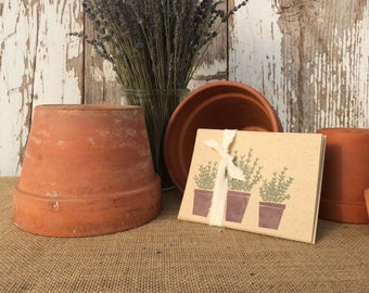 Lavender Pots Blank Note Cards – Pack of Four