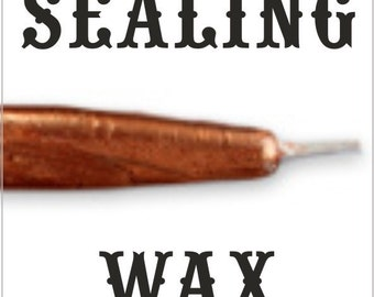 BLOW OUT DEAL 1/2 price - Copper traditional wax sticks with wicks - Scottish style breakable sealing wax - 10 pieces
