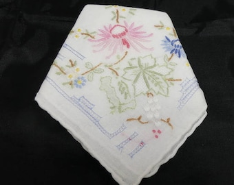 Wedding Handkerchief Ladies Hankie Grandmother Gift for Her Vintage White Hankie Vintage Handkerchief Bridesmaid Gifts Mother of the Bride
