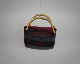 Knitted and felted handbag