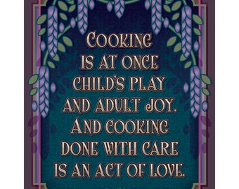 Arts and Crafts Mission Style Unframed Print. Cooking subject. Great for Arts and Crafts, Mission style  homes.