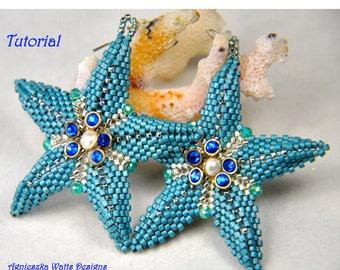 Ocean Blue earrings PDF pattern instant download