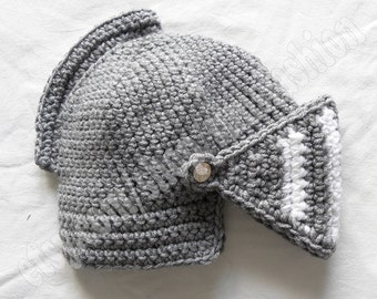 knight helmet crochet beanie hat original warm black white knitted cap knight hats mens awesome costume knight