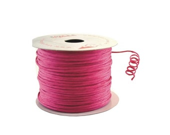 Paper Cord Wired Fuchsia Flexible Tourbillon Craft Cord 10 yards