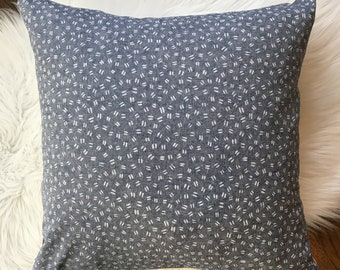 Blue Speckles Pillow Cover - fits 20 x 20 insert