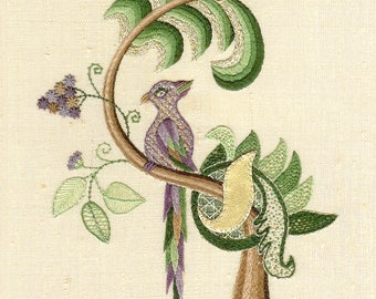 Embroidery Kit: Bird of Paradise Surface Hand Embroidery Kit