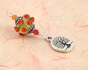 Blessingway bead - Faery Meadow Flower Tree of Life - Mother Blessing bead, mama goddess