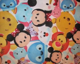 Disney Tsum Tsum Mickey and Friends Fleece Fabric By the Yard