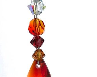 Swarovski Crystal Suncatcher, Window Mobile, Rear View Mirror, Yard Art, car accessories, glass art, wedding anniversary, birthday gift 8982