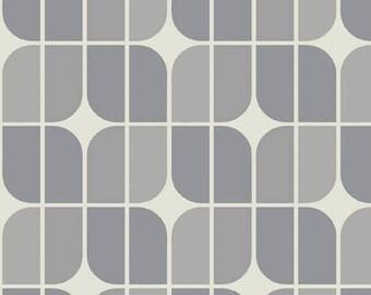Fat Quarter -- Riley Blake Designs  --  Hipster Mirrah Leaf -100% Cotton Fabric - Gray