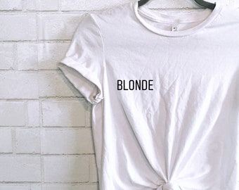 BLONDE | BRUNETTE pocket tee