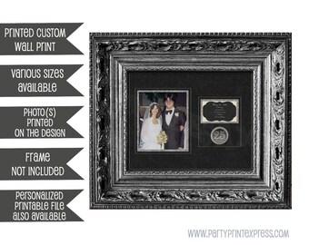 25th Anniversary Print Gift - 25th Wedding Anniversary Gift - 25th Anniversary Gift - 25th Wedding Silver Anniversary personalised print