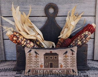 Indian Corn...Primitive PAPER Cross Stitch Pattern By The Humble Stitcher