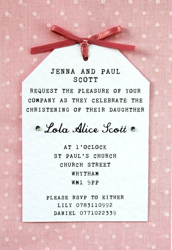 Baby girl christening naming ceremony invitation elegant stopboris Images