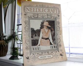 1918 Needlecraft Magazine August Issue